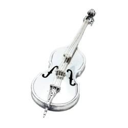 exquisit, verarbeitetes Kunstobjekt des Künstlers Vittorio Angini aus dem 20. Jahrhundert - antike Violine aus massivem 925er Silber