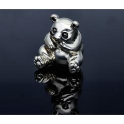 niedlicher Bär aus massivem Silber 925 Sterling