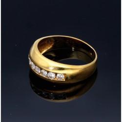 prunkvoller Brillantring aus hochwertigem 750 Gelbgold 18 Karat - Größe 58