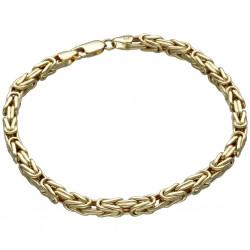 Goldenes Königsarmband (585er 14k), 4mm breit, 21cm lang