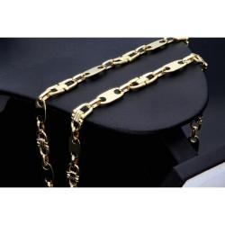 Plättchenkette Steigbügelkette ECHT GOLD 585 14K 8mm breit, 64,1g, 70cm