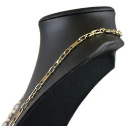 Plättchenkette Steigbügelkette ECHT GOLD 585 14K 6,5mm breit, 56,6g, 71cm