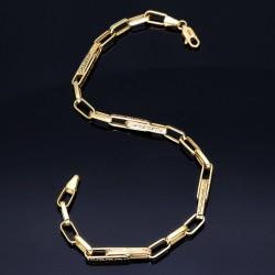 filgran, spezialangefertigtes Designer-Armband aus Gold mit Greco-Muster ca. 24cm lang; 4,5g (585 / 14k)