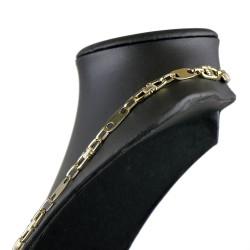 Plättchenkette Steigbügelkette aus 585er 14k Gold - 10 mm breit - 70 cm lang
