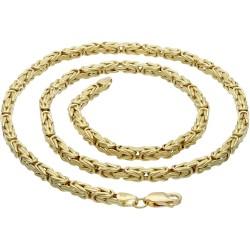 Königskette aus echtem 14-Karat Gold (45 cm lang, 3mm breit)
