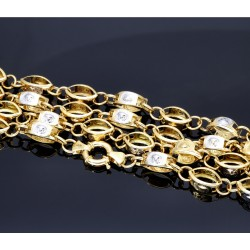 Medusa - Designerkette in 585 (14k) Gelb- und Weißgold ca. 70 cm Länge