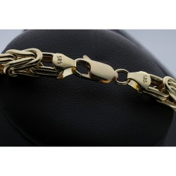 Sonderanfertigung: Megafette goldene Königskette 585 (14k) in 66 cm Länge; 8,5mm Breite; ca. 87g