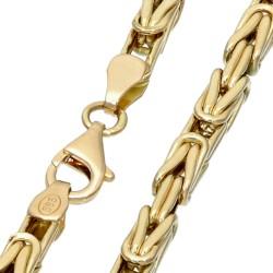 Angebot: Königskette aus 585er Gelbgold (14k)- 56cm lang, 4 mm breit, 19g