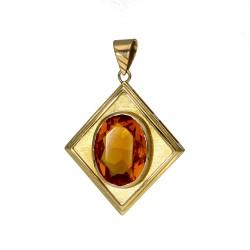 wunderschöner Goldtopas-Anhänger 585 14k