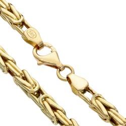 Königskette aus 585er Gelbgold (14k)- 65cm lang, 4 mm breit, 21,4g