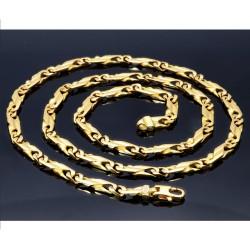 Goldkette mit filigranem Design  (18K, 750er) 5mm, 60cm, ca. 52,4g