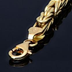 Goldenes Königsarmband (585er 14k), 4,5mm breit, 19cm lang