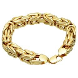 Goldenes Königsarmband (585er 14k), 11,6mm Mega-Breite,  25cm lang, 52,9 g