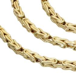 Königskette aus 585er Gelbgold (14k)- 65cm lang, 3,5 mm breit, 18g