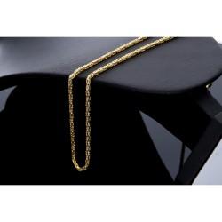 Goldene Königskette aus 14k (585) Gold in 65 cm Länge (2 mm breit)