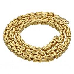 Sonderanfertigung: XXL-Breite goldene Königskette 585 (14k) in 61 cm Länge; 8,5mm Breite; ca. 78g