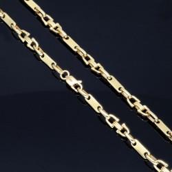 Plättchenkette, Steigbügelkette aus hochwertigem 585 14K Gold 5,5mm breit, 32g, 58cm