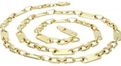 Plättchenkette Steigbügelkette ECHT Gold 585 14K 6,5mm 66cm 56,5g