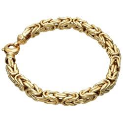 Goldenes Königsarmband (585er 14k Gold), 7mm Mega-Breite, 23cm lang, 23,9g