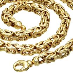 Sonderanfertigung - Königskette aus echtem 585er Gold (14 K)  (ca. 58,5g, 65,5 cm, 7mm)