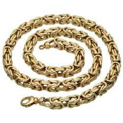 Sonderanfertigung - Königskette aus echtem 585er Gold (14 K)  (ca. 70,8g, 62,5 cm, 8mm)