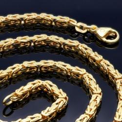 voll massive Königskette aus hochwertigem 585er Gold (14 Karat) in 60 cm Länge; ca. 3,3 mm breit (ca. 37,5g) -  Made in Germany - Mit FBM - Stempel