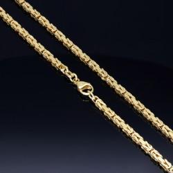 massive Premium-Königskette aus hochwertigem 14K Gold (585) in 65 cm Länge; ca. 3,3 mm breit (ca. 40,7g)  Made in Germany mit FBM Stempel