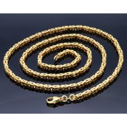 extralange Premium-Königskette massivem 585er Gold (14 Karat) in 70 cm Länge; ca. 3,3 mm breit (ca. 44,5g)