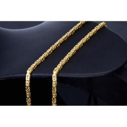 Königskette aus voll massivem 585 Gold (14 Karat) in 55 cm Länge; ca. 3,3 mm breit (ca. 34,7g)
