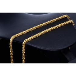 50cm lange Königskette aus voll massivem 585 Gold (14 Karat); ca. 3,3 mm breit (ca. 33,3g)