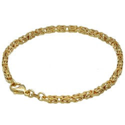 Massives Königsarmband aus Gold (585er 14k Gold), ca. 3,3 mm Breite, ca. 20,5cm lang