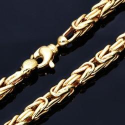 Königskette aus 585er Gelbgold (14k)- 66cm lang, 4 mm breit, 25g
