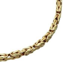 Königskette aus 585er Gelbgold (14k)- 61cm lang, 4mm breit, 20g