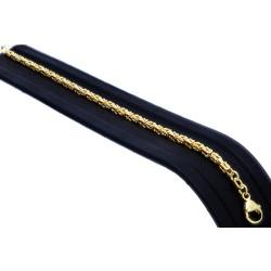 Massives Königsarmband aus Gold (585er 14k Gold), ca. 3 mm Breite, ca. 20cm lang, ca. 10,6g