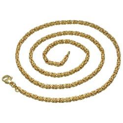 massive Premium-Königskette aus hochwertigem 14K Gold (585) in 65 cm Länge; ca. 3mm breit (ca. 33,5g)
