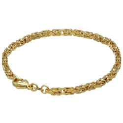 Massives Königsarmband aus Gold (585er 14k Gold), ca. 3,3 mm Breite, ca. 20cm lang, ca. 13,4g