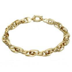 goldenes Designer-Armband mit Greco-Muster ca. 20,5cm lang; 5,6g (585 / 14k)