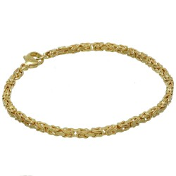 Massives Königsarmband aus Gold (585er 14k Gold), ca. 3 mm Breite, ca. 22cm lang, ca. 11,8g - Made in Germany mit FBM Stempel
