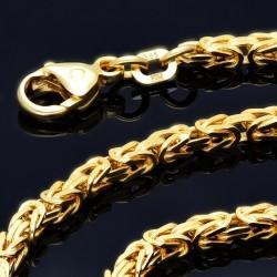 massive Premium-Königskette aus hochwertigem 14K Gold (585) in 45 cm Länge; ca. 3mm breit (ca. 23,8g)
