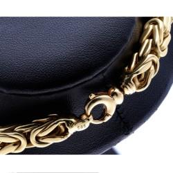 Bling-Bling-Königskette mit Zirkoniabesatz aus 585er Gelbgold (14k)- ca. 65 cm lang, 7 mm breit, 90,1g