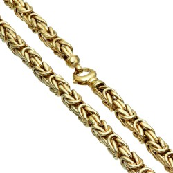 Dicke Königskette aus echtem 585er Gold (14 K)  (ca. 48g, 62cm, 6mm)
