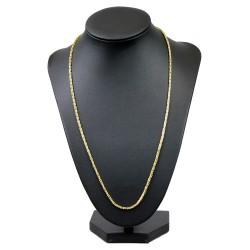 schmale Königskette aus 585 Gold 14K (55 cm lang, 2 mm breit)