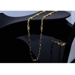 sehr schlanke Plättchenkette, Steigbügelkette aus 585er (14k) Gold - 55 cm Länge, 4 mm breit