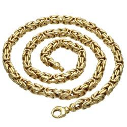 Dicke Königskette aus echtem 585er Gold (14 K)  (ca. 55,5g, 67cm, 6mm)