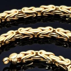 Königskette aus 585er Gelbgold (14k)- ca. 60cm lang, ca. 4 mm breit, 20g