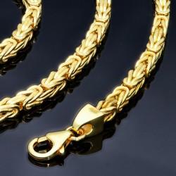 Made in Italy: Königskette aus 585er Gelbgold (14k)- 60cm lang, 3,2 mm breit, 20g