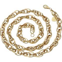 Luftige Designer-Goldkette für Damen aus 585er Gelbgold (14k), 49 cm Länge