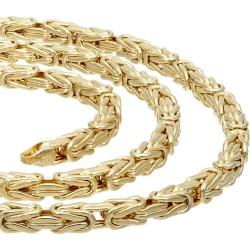 Der Preisbrecher: Königskette aus 585er Gelbgold (14k)- 50cm lang, 4 mm breit, 19,3g