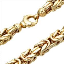 Sonderanfertigung - Königskette aus echtem 585er Gold (14 K)  (ca. 74,8g, 66 cm, 8mm)