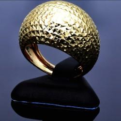 Markanter Ballonring für Damen aus 585er 14k Gelbgold (Gr. 57,5)